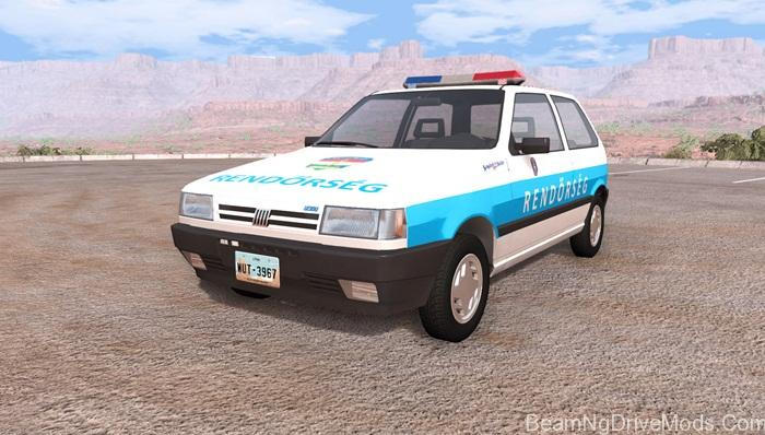 fiat-uno-hungarian-police